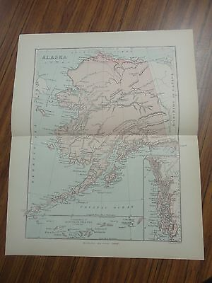Nice color map of the State of Alaska.  Printed 1888 by Chambers.