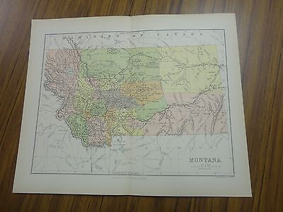 Nice color map of the State of Montana.  Printed 1891 by Chambers.