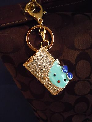 FABULOUS Hello Kitty Rhinestone And Medal Alloy Handbag Charm And Or Key Chain