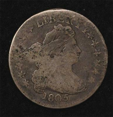 1805 Draped Bust Dime:  Clear Date and reverse legend, perfect natural color