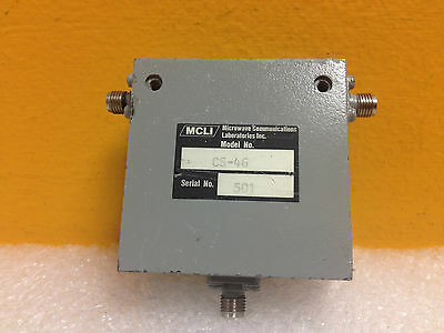 MCLI CS-46, 800 to 1000 MHz, 17 dB, 3 Port SMA (F) Coaxial Circulator