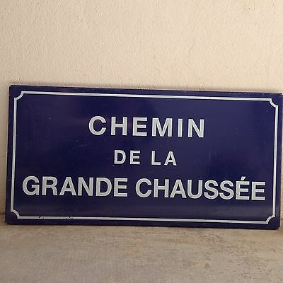 French Street Enamel Sign Plaque - metal sign vintage