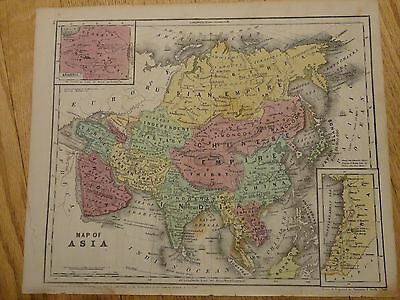 Nice hand colored map of Asia.  Circa 1848 by Roswell C. Smith, A.M.