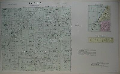 Original 1903 Plat Tract Map PARMA HEIGHTS Electric Railway Cuyahoga County Ohio