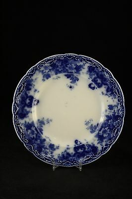 "Vtg Antique Semi-Porcelain Pottery Alfred Meakin 7"" Flow Blue Saucer Plate Dish"