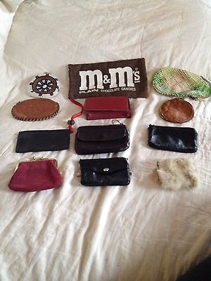 Lot Of 12 Vintage Wallets,Pouches,Coin Purses