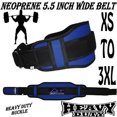 BodyBuilding Weight Lifting Fitness Gym Neoprene BELT Wide Double Back Support