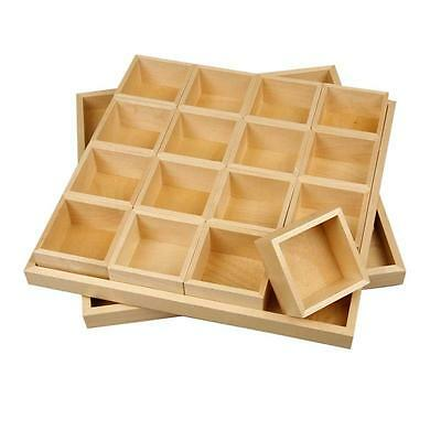Large storage box - Lid - 16 lift out compartments - sewing craft jewellery home
