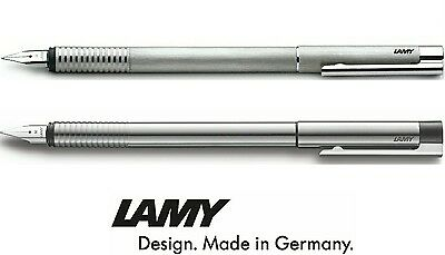 Lamy Logo Stainless Steel Fountain Pen - All Colours & Nib Sizes Available