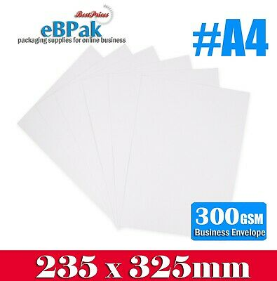 100 A4 Size Card Mailer 235x325mm Heavy Duty Envelope - Tough Bag Replacement