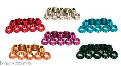 Alloy Coloured & Steel Chrome Chain Wheel Bolts Sets of 5 - Old School BMX