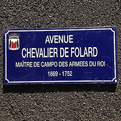 French Street Enamel Sign Plaque - RARE FROM AVIGNON metal Folard