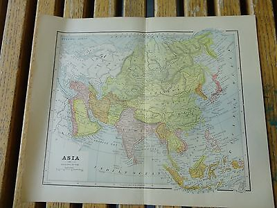 Nice colored map of Asia.  Pub. in 1895 in The People's Cyclopedia.