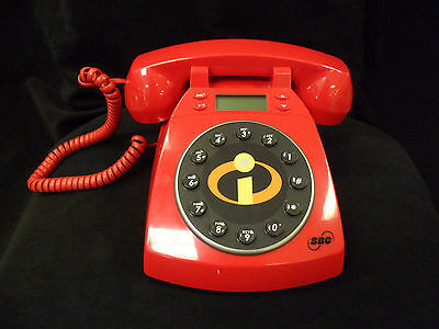 SBC Vintage Style Disney Pixar The Incredibles Phone Collector 's Desk Phone New