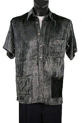 c93c64fac8a5 Mens Short Sleeve With Patch Pocket with Metal Button Made In Italy