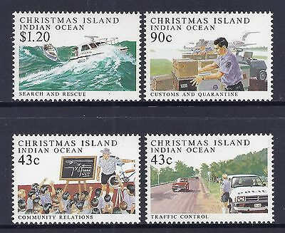 1991 Christmas Island Policing Set Of 4 Fine Mint Mnh/muh