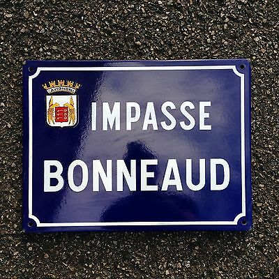 French Street Enamel Sign Plaque - RARE FROM AVIGNON metal bonnaud
