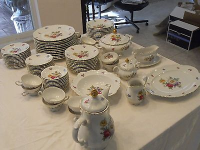 MITTEREICH Bavaria Germany Meissen Floral China 79 piece set Excellent Condition