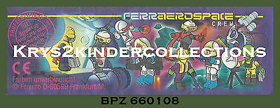 BPZ kinder personnage Ferraerospace space Sheriff 660108 Allemagne 1996