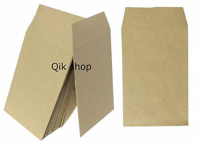 50,100 Small Brown Money/ Wages/ Dinner Money/ Coin/ Seed Envelopes 100X62 mm
