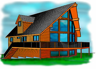 16x24 cabin w loft plans package blueprints material for House material packages