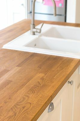 Solid Oak Worktop, Size 2M 3M 4M, PRIME A Grade Quality, Oiled or Untreated