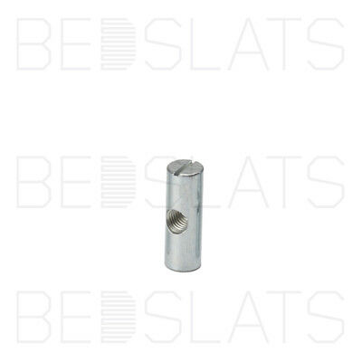 M8 x 30mm Cross Dowels / Barrel Nuts (Centre Hole) for Furniture, Bed & Cots