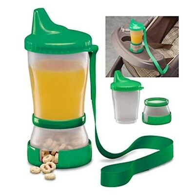 Mommy's Helper Sip 'N Snak No-Spill Sippy Cup Snack Compartment Container 79224