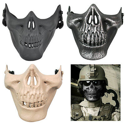 M5 Hot!Skull Skeleton Airsoft Paintball Half Face Protect Airsoft Mask