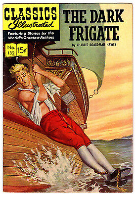 Classic Illustrated #132 7.0 Cream Pages Silver Age Dark Frigate