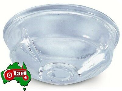 Curved Sides Glass CAV Fuel Filter Bowl Shallow Massey Ferguson Tractor