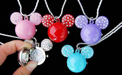Wholesale Hot sell 10 pcs Cartoon Character Design Necklace Children watches L22