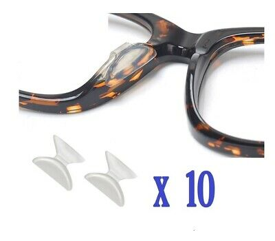 1.8mm Non-slip Silicone Nose Pad for Eyeglasses 10 Pairs(Clear)-Quick solution