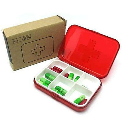 Portable Medicine Case Medical Pill Drug Jewelry Earring Storage Travel Mini Box