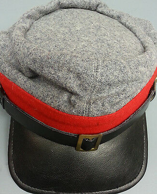 REPRODUCTION CIVIL WAR RED CONFEDERATE ARTILLERY  KEPI HAT XL