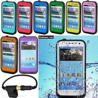 CUSTODIA cover WATERPROOF SUBACQUEA Impermeabile AntiShock per SAMSUNG GALAXY S4
