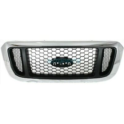 NEW 2004 2005 FO1200453 FORD RANGER GRILLE ARGENT MESH WITH CHROME SURROUND