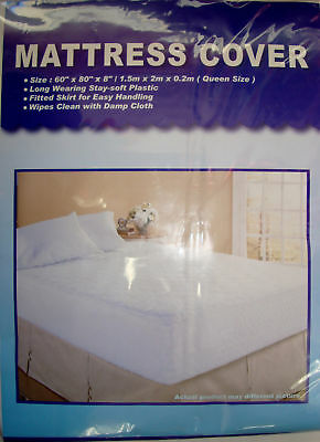 Queen Size Mattress Cover, Water Proof Plastic New