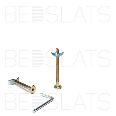 M6 x 70mm bed connector bolts with half moon nut, cot, cot bed, furniture