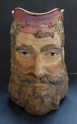"""GOOD QUALITY ENGLISH POTTERY BACCHUS """"FACE"""" JUG - MID 19TH CENTURY"""
