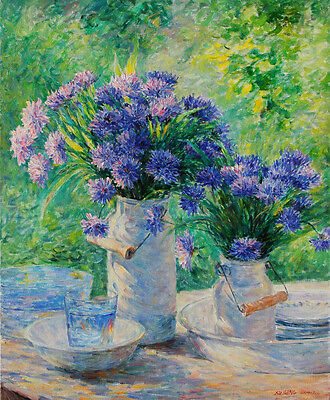 Frameless Hand Painted Oil Painting Still Life Flowers A17000060