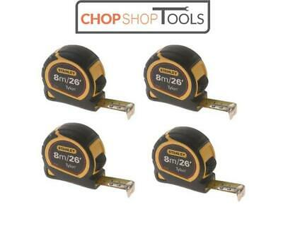 Stanley 8m/26ft Pocket Tape Measure with Tylon Blade 1-30-656 x  ** 4 PACK **