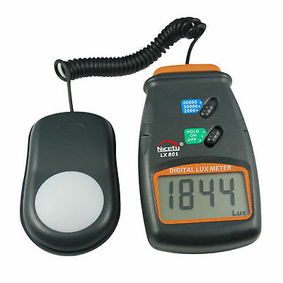 3-Range Light Meter for Science Projects, Research, Hydroponics, Greenhouse, Lux