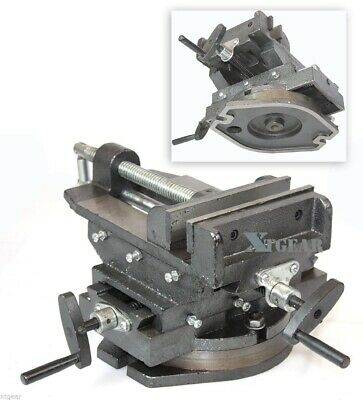 "New 6"" 360° Swivel Vise  Drill  Cross Vise Two Way Slide Press Milling Machine"