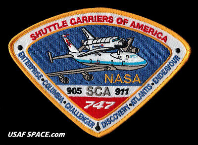 Original - Shuttle Carriers Of America - Sca - Nasa - 905 - 911  747 Space Patch
