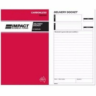 5 x Impact Delivery Docket Book Carbonless 203x127 Triplicate SB324A.