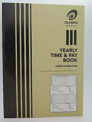 10 x Olympic Time and Pay Book A5 32P 180x215mm BULK BUY 140583