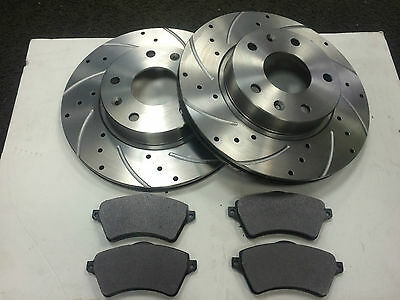 Landrover Freelander 2.0 Td4 Mk1 Front Drilled And Grooved Discs And Pads