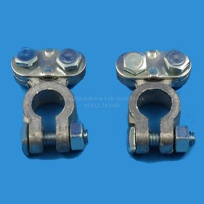 2 Piece Heavy Duty Car Vehicle Battery Terminal Clamps Toolzone AU069