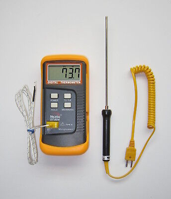 K Type Digital Thermometer Stainles Probe Lead Bullet Casting Melting Pot TC-3